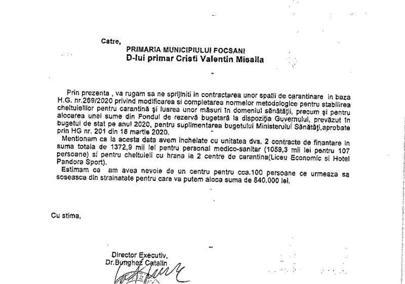 adresa dsp - Bombă în ședința de Consiliul Local Focșani: Misăilă spune că Berbece i-a făcut plângere penală