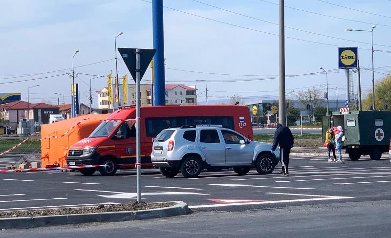 baza mobila focsani diaspora 2 - FOTO: Bază mobilă ridicată la marginea Focșaniului   Vrâncenii care se întorc în țară vor fi triați epidemiologic