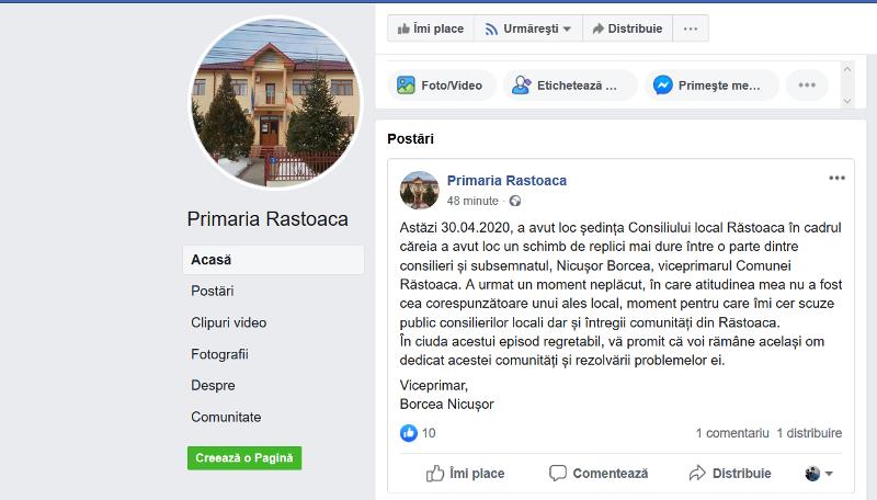 nicusor borcea scuze - Ședință de consiliu local cu scântei la Răstoaca! Viceprimarul a vrut să-i dea afară din sală pe consilierii PSD!