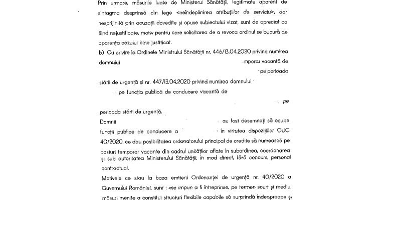 actiune1 - Cătălin Graur a contestat ordinul prin care a fost suspendat din fruntea DSP Vrancea | Ordinul, emis la cererea prefectului. DOCUMENT
