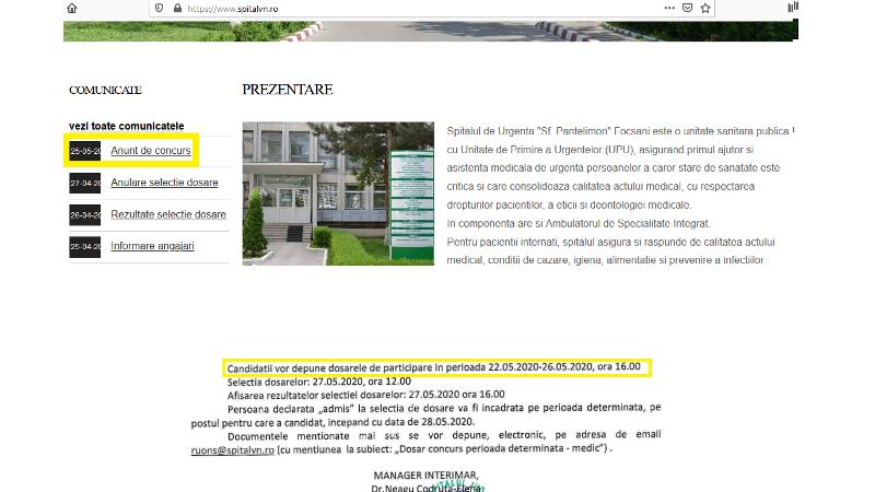 angajari spital - Spitalul Județean, în deficit de personal: anunță azi că angajează medici, însă documentele se pot depune începând de vineri, 22 mai