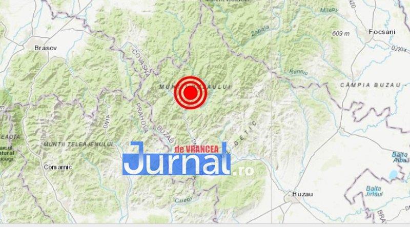 harta seism - A fost cutremur în Vrancea! Tu l-ai simțit?