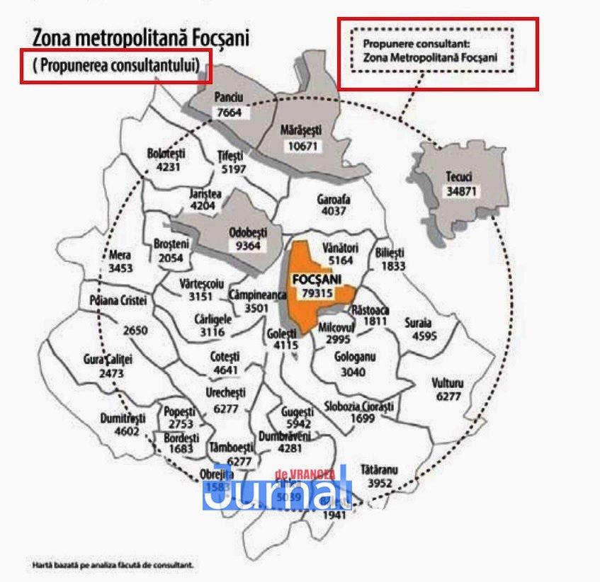 harta zona metropolitana focsani - Zona Metropolitană Focșani există dar lipsește cu desăvârșire! Gâlceava PNL - PSD capătă valențe administrativ-teritoriale!