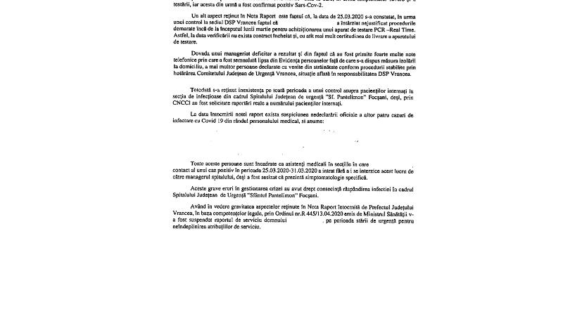 intampinare2 - Cătălin Graur a contestat ordinul prin care a fost suspendat din fruntea DSP Vrancea | Ordinul, emis la cererea prefectului. DOCUMENT