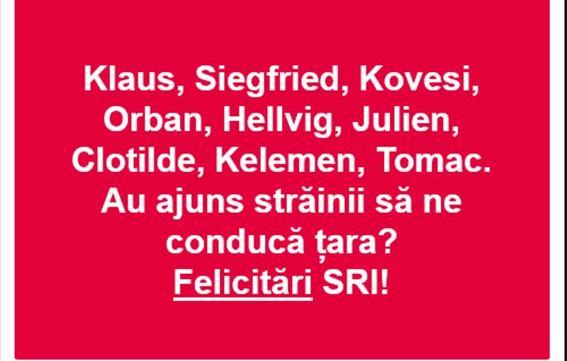 """postare psd - PSD Vrancea, amendat pentru discriminare: """"Au ajuns străinii să ne conducă țara? Felicitări SRI"""""""