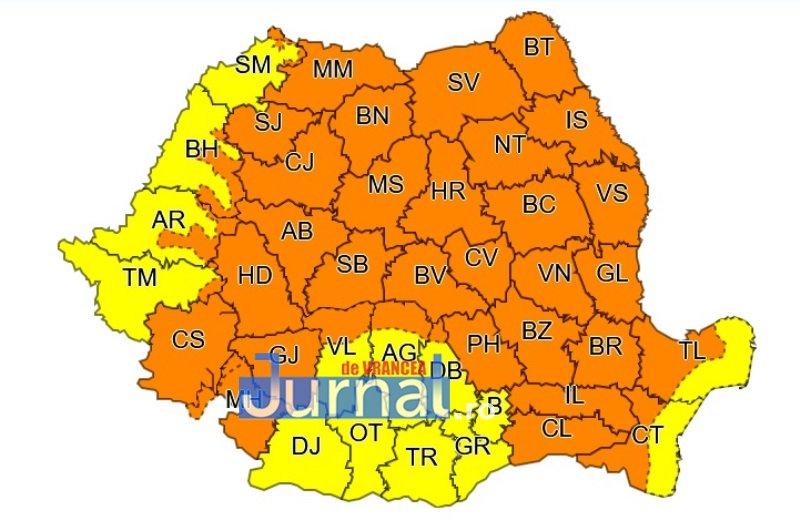 cod portocaliu vrancea - ULTIMĂ ORĂ: Avertizarea de cod portocaliu a fost prelungită