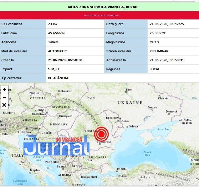 cutremur - ULTIMĂ ORĂ: Cutremur de adâncime, duminică dimineață, în zona seismică Vrancea