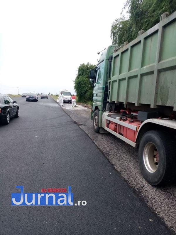 camion haret 5 - GALERIE FOTO: Remorcă plină de intestine și stomacuri de animale, focar de infecție pe E85. Garda de Mediu a decontaminat zona
