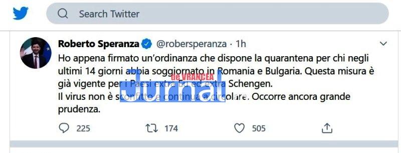 carantina italia romania - ULTIMĂ ORĂ: Cetățenii Români care merg în Italia vor intra în carantină 14 zile