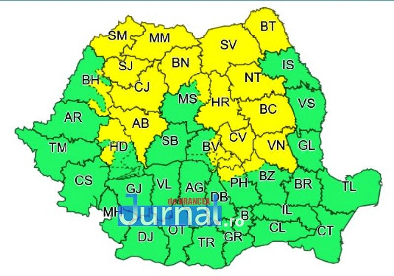 cod galben 1 - ULTIMĂ ORĂ! Cod galben de vreme rea pentru Vrancea | Meteorologii anunță vijelii, ploi torențiale și grindină