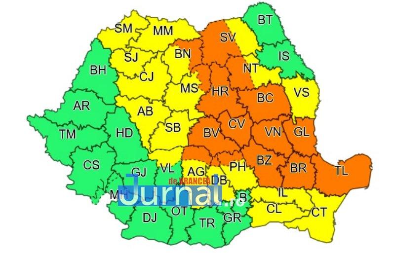 cod portocaliu - ULTIMĂ ORĂ: Un nou COD PORTOCALIU de furtuni și ploi pentru județul Vrancea
