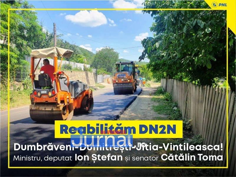 """macheta reabilitare drum - FOTO: Asfalt nou pe DN2N, între Jitia și Dumbrăveni   Ministrul Ion Ștefan: """"Vrancea are nevoie de lucrări urgente la rețeaua de drumuri"""""""