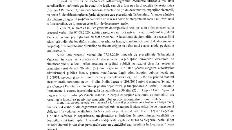 contestatie - PSD Vrancea, refuzat de instanță. Tribunalul Vrancea i-a respins contestația, însă Oprișan ar vrea să facă recurs