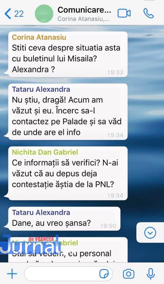 whatsapp 1 - FOTO: Războiul PNL-USR de la municipiu: faza pe acuzații de înțelegeri politice