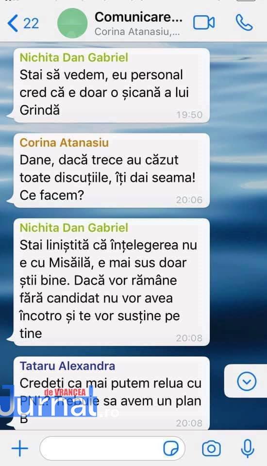 whatsapp 2 - FOTO: Războiul PNL-USR de la municipiu: faza pe acuzații de înțelegeri politice