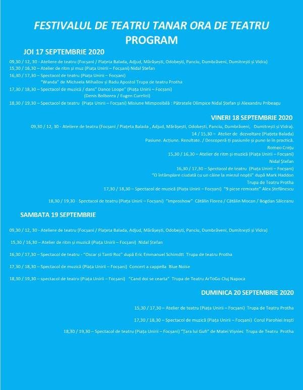 """festival protha - Ne mai despart două zile până la deschiderea Festivalului de Teatru Tânăr """"Ora de Teatru"""""""