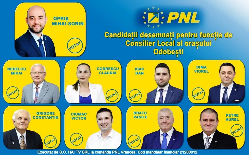 """lista consilieri odobesti 1 - Mihai Sorin Opriș, candidatul PNL pentru Primăria Odobești: """"Este momentul în care puteți aduce schimbarea în orașul nostru"""""""