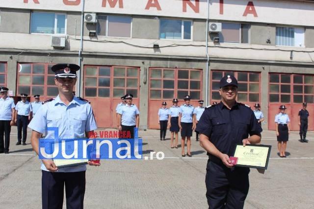 ziua pompierilor din romania 5 - FOTO: Ziua Pompierilor din România marcată la I.S.U. Vrancea cu avansări grad, diplome de merit şi emblema de onoare a I.G.S.U.