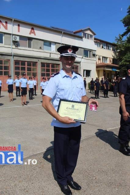 ziua pompierilor din romania 6 - FOTO: Ziua Pompierilor din România marcată la I.S.U. Vrancea cu avansări grad, diplome de merit şi emblema de onoare a I.G.S.U.