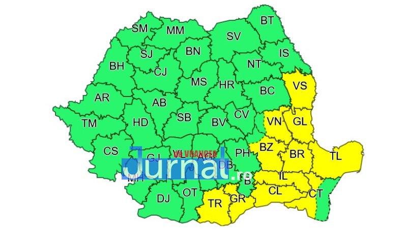 cod galben - ULTIMA ORĂ: Vrancea și alte 10 județe, avertizare de ploi și furtuni