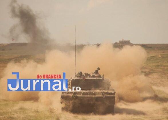 tanc 4 587x420 - Probe de foc pentru militarii Batalionului 284 Tancuri, unitate din cadrul Brigăzii 282 Blindată din Focșani