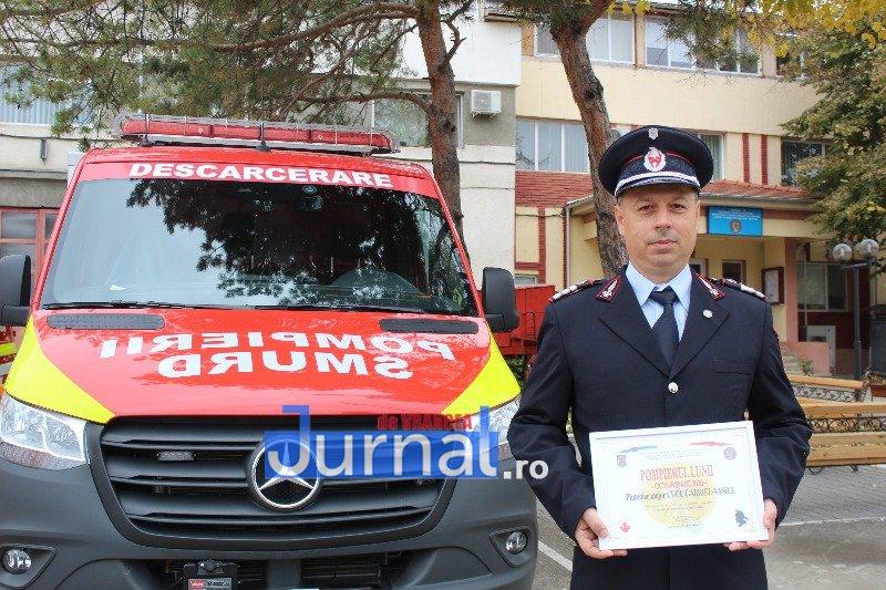 """gabriel vasile cucu 3 - Pompierul lunii octombrie, plutonier major Gabriel Vasile Cucu: """"Îmi doresc să pot salva cât mai multe vieți și să mă întorc acasă sănătos, la familia mea"""""""
