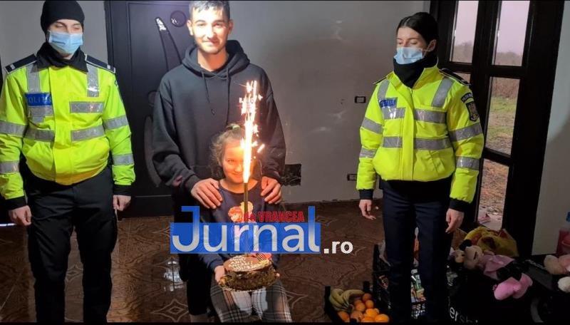 sf andrei ipj 11 - GALERIE FOTO: Onomastică de neuitat pentru Andrei și Andreea, copiii de suflet ai polițiștilor vrânceni