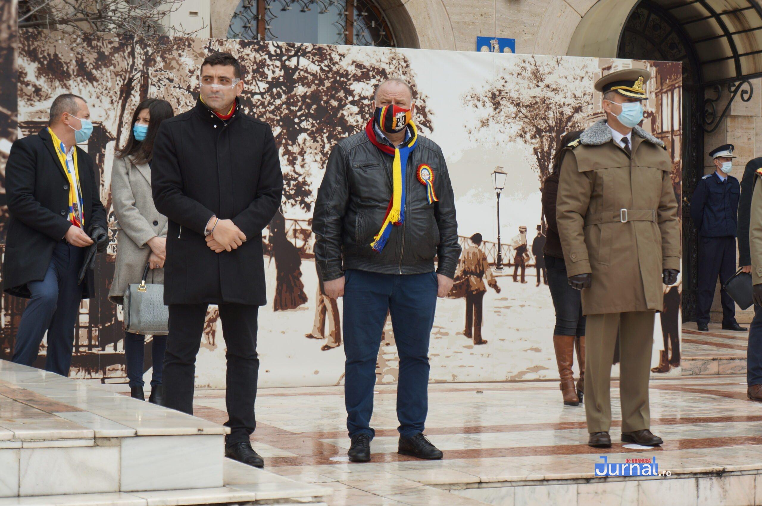 24 ianuarie 2021 2 scaled - VIDEO și FOTO! Ziua Unirii sărbătorită în regim de pandemie la Focșani